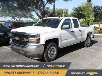 2018 Summit White Chevy Silverado 1500 LS EcoTec3 4.3L V6 Engine Truck 4 Door