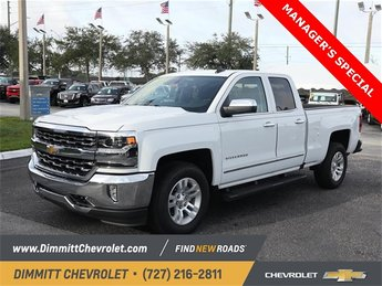 2018 Summit White Chevy Silverado 1500 LTZ RWD Automatic EcoTec3 5.3L V8 Flex Fuel Engine Truck 4 Door