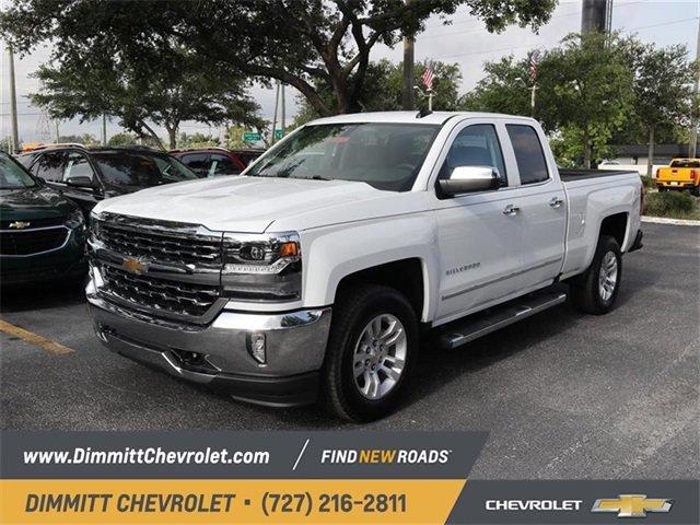 2018 Summit White Chevy Silverado 1500 Ltz Rwd 4 Door Truck Automatic Ecotec3 5 3l V8
