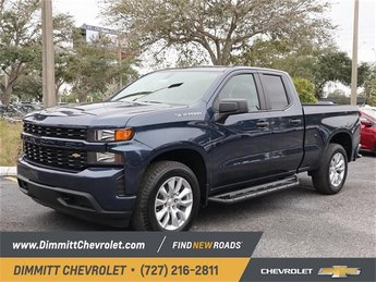 2019 Northsky Blue Metallic Chevy Silverado 1500 Custom Automatic Truck 4 Door