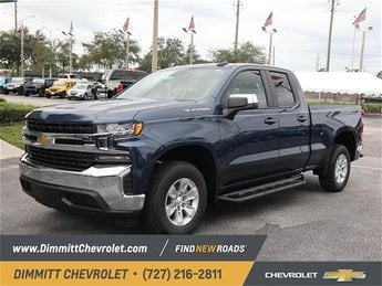2019 Northsky Blue Metallic Chevy Silverado 1500 LT RWD Truck 4 Door EcoTec3 5.3L V8 Engine Automatic