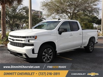 2019 Summit White Chevy Silverado 1500 RST Automatic 2.0L I4 Turbocharged Engine 4 Door Truck RWD