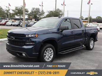 2019 Northsky Blue Metallic Chevy Silverado 1500 RST 4 Door RWD EcoTec3 5.3L V8 Engine Automatic Truck