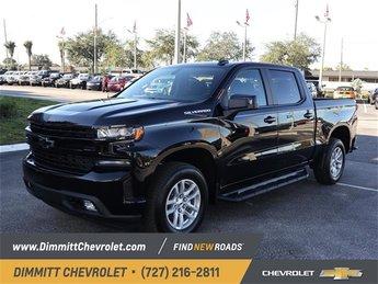 2019 Black Chevy Silverado 1500 RST 4 Door Automatic EcoTec3 5.3L V8 Engine RWD