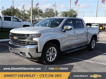 2019 Silver Ice Metallic Chevy Silverado 1500 LTZ EcoTec3 5.3L V8 Engine 4 Door Automatic Truck RWD
