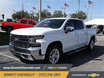 2019 Summit White Chevy Silverado 1500 LTZ RWD Automatic EcoTec3 5.3L V8 Engine 4 Door