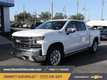 2019 Summit White Chevy Silverado 1500 LTZ Automatic Truck EcoTec3 5.3L V8 Engine 4X4 4 Door