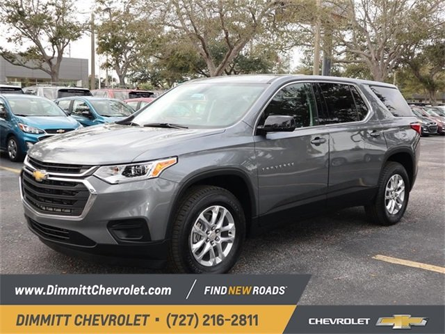 2019 Satin Steel Metallic Chevy Traverse LS FWD SUV Automatic 4 Door 3.6L V6 SIDI VVT Engine