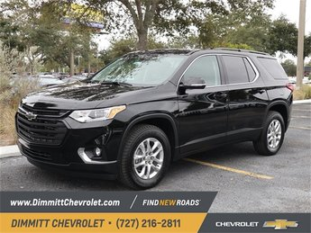 2019 Mosaic Black Metallic Chevy Traverse LT Cloth Automatic FWD 3.6L V6 SIDI VVT Engine 4 Door SUV