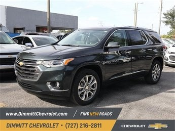 2019 Graphite Metallic Chevy Traverse Premier FWD 4 Door 3.6L V6 SIDI VVT Engine