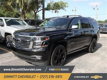 2018 Black Chevy Tahoe Premier SUV EcoTec3 5.3L V8 Flex Fuel Engine 4 Door RWD