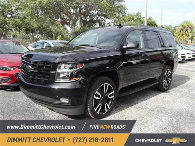2019 Black Chevy Tahoe Premier EcoTec3 6.2L V8 Engine RWD Automatic 4 Door