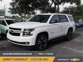 2019 Summit White Chevy Tahoe Premier RWD EcoTec3 6.2L V8 Engine SUV 4 Door Automatic