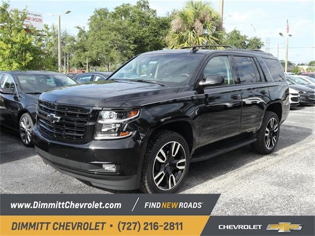2019 Black Chevy Tahoe Premier SUV EcoTec3 6.2L V8 Engine RWD 4 Door