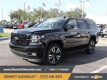 2019 Black Chevy Tahoe Premier RWD 6.2L 8-Cylinder Engine 4 Door SUV