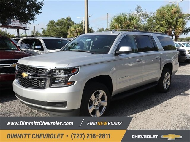 2019 Silver Ice Metallic Chevy Suburban Ls Ecotec3 5 3l V8 Engine Rwd Automatic 4 Door