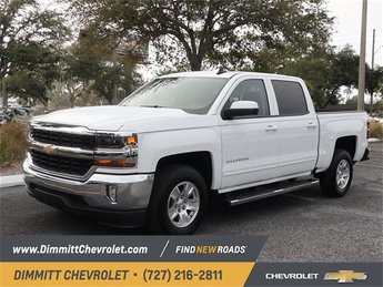 2018 Summit White Chevy Silverado 1500 LT EcoTec3 5.3L V8 Flex Fuel Engine 4 Door Automatic RWD Truck