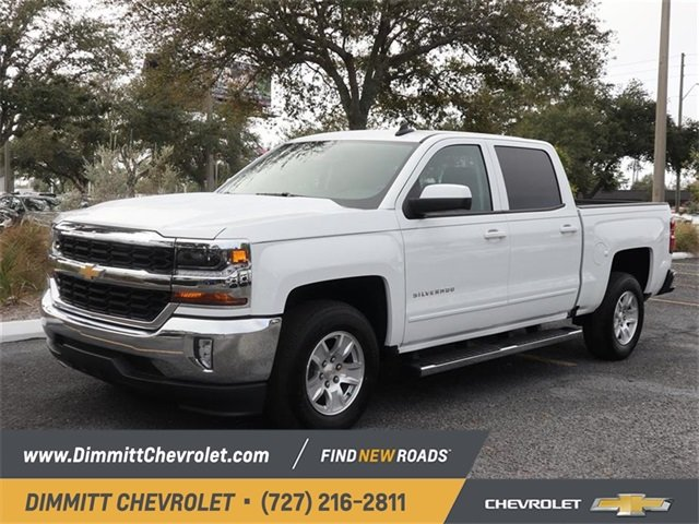2018 Summit White Chevy Silverado 1500 LT RWD Automatic EcoTec3 5.3L V8 Flex Fuel Engine