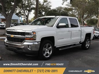 2018 Summit White Chevy Silverado 1500 LT Truck EcoTec3 5.3L V8 Flex Fuel Engine Automatic 4 Door