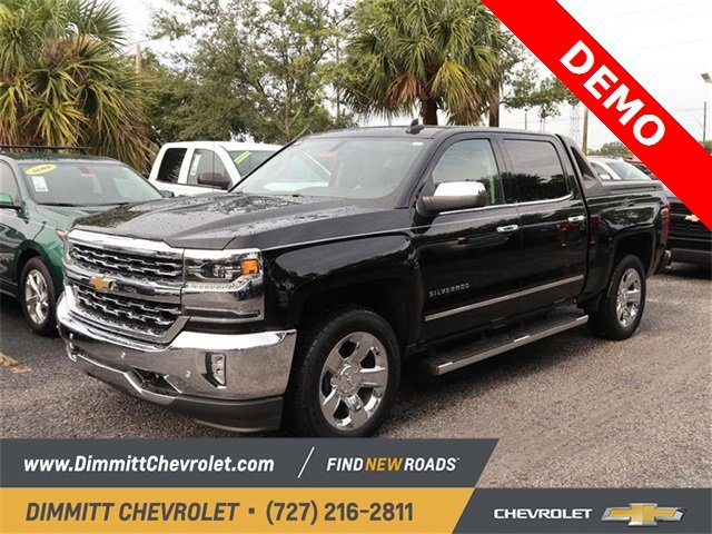 2018 Black Chevy Silverado 1500 LTZ EcoTec3 5.3L V8 Flex Fuel Engine 4 Door Truck Automatic RWD