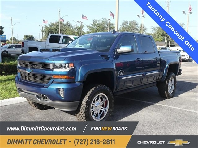 2018 Deep Ocean Blue Metallic Chevy Silverado 1500 LT 4 Door 4X4 Automatic EcoTec3 5.3L V8 Engine