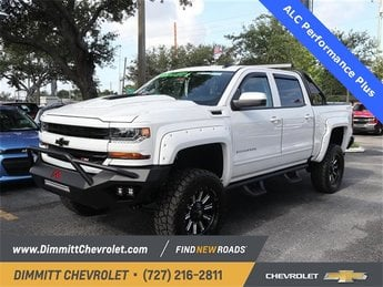 2018 Summit White Chevy Silverado 1500 LT 4X4 Truck Automatic