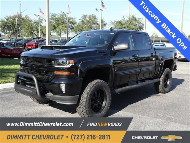 2018 Black Chevy Silverado 1500 LT Automatic EcoTec3 5.3L V8 Flex Fuel Engine Truck 4 Door