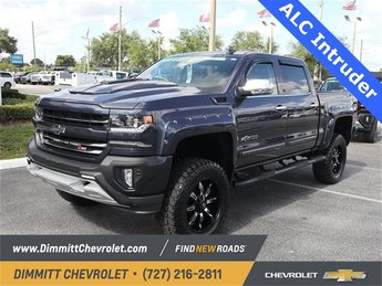 2018 Blue Metallic Chevy Silverado 1500 LTZ 4X4 Truck EcoTec3 6.2L V8 Engine 4 Door