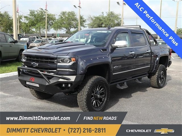 2018 Blue Metallic Chevy Silverado 1500 LTZ 4X4 4 Door Automatic Truck