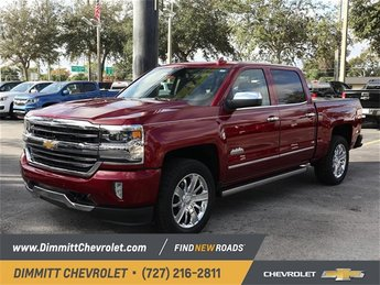 2018 Cajun Red Tintcoat Chevy Silverado 1500 High Country 4 Door 4X4 Automatic Truck EcoTec3 5.3L V8 Engine