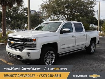 2018 Iridescent Pearl Tricoat Chevy Silverado 1500 High Country EcoTec3 5.3L V8 Flex Fuel Engine Automatic 4 Door Truck