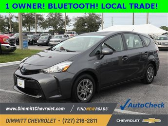 2017 Magnetic Gray Metallic Toyota Prius v Two 1.8L 4-Cylinder DOHC 16V VVT-i Aluminum Engine Crossover Automatic (CVT)