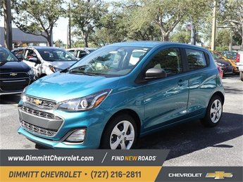 2019 Caribbean Blue Metallic Chevy Spark LS 4 Door Automatic (CVT) 1.4L DOHC Engine Hatchback FWD