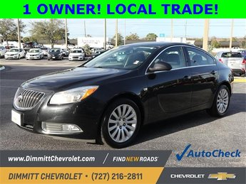2011 Carbon Black Metallic Buick Regal CXL RL6 4 Door ECOTEC 2.4L I4 SIDI DOHC VVT Engine Automatic Sedan