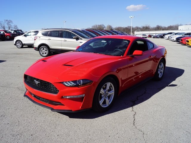 2018 Race Red Ford Mustang EcoBoost EcoBoost 2.3L I4 GTDi DOHC Turbocharged VCT Engine Automatic Coupe RWD