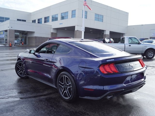 2018 Kona Blue Metallic Ford Mustang EcoBoost 2 Door RWD Automatic