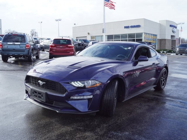 2018 Ford Mustang EcoBoost Automatic EcoBoost 2.3L I4 GTDi DOHC Turbocharged VCT Engine Coupe