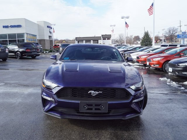 2018 Kona Blue Metallic Ford Mustang EcoBoost Automatic EcoBoost 2.3L I4 GTDi DOHC Turbocharged VCT Engine 2 Door RWD
