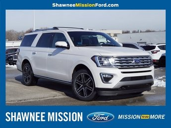 2019 White Ford Expedition Max Limited 4 Door EcoBoost 3.5L V6 GTDi DOHC 24V Twin Turbocharged Engine 4X4 SUV Automatic