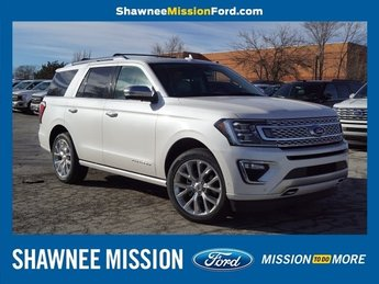 2019 White Platinum Metallic Tri-Coat Ford Expedition Platinum SUV Automatic EcoBoost 3.5L V6 GTDi DOHC 24V Twin Turbocharged Engine