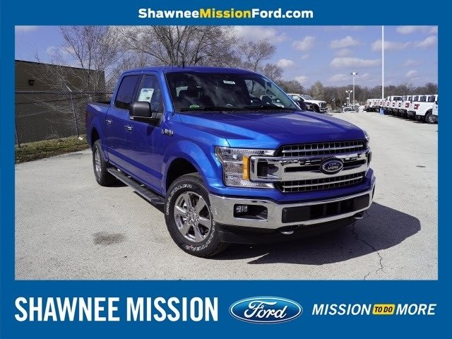 2019 Blue Ford F-150 XLT 4X4 Truck EcoBoost 2.7L V6 GTDi DOHC 24V Twin Turbocharged Engine 4 Door Automatic