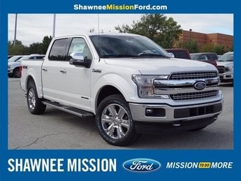 2018 White Ford F-150 Lariat 3.0L Diesel Turbocharged Engine 4 Door Automatic 4X4 Truck