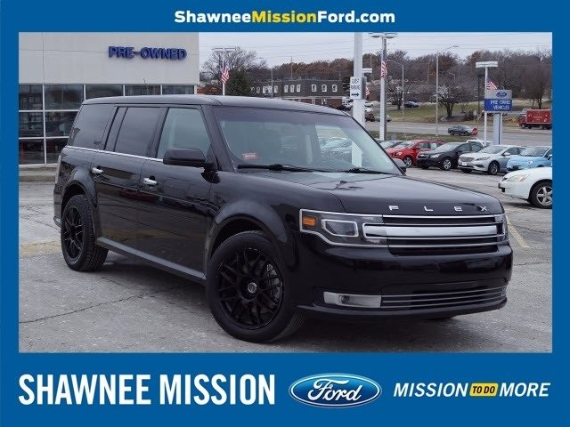 2017 White Gold Metallic Ford Flex Limited SUV FWD 3.5L V6 Ti-VCT Engine 4 Door