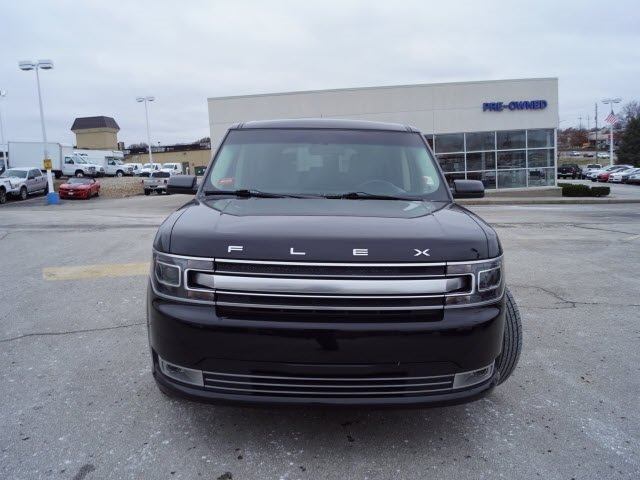 2017 White Gold Metallic Ford Flex Limited Automatic SUV 4 Door