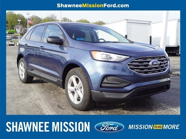 2019 Blue Metallic Ford Edge SE 2.0L Engine SUV FWD Automatic 4 Door