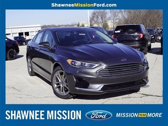 2019 Blue Metallic Ford Fusion SEL EcoBoost 1.5L I4 GTDi DOHC Turbocharged VCT Engine FWD Sedan Automatic