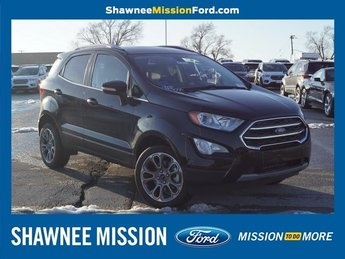 2018 Shadow Black Ford EcoSport Titanium Automatic 4X4 SUV I4 Engine 4 Door