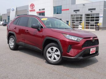 2019 Red Toyota RAV4 LE SUV Automatic AWD 2.5L 4 cyls Engine 4 Door