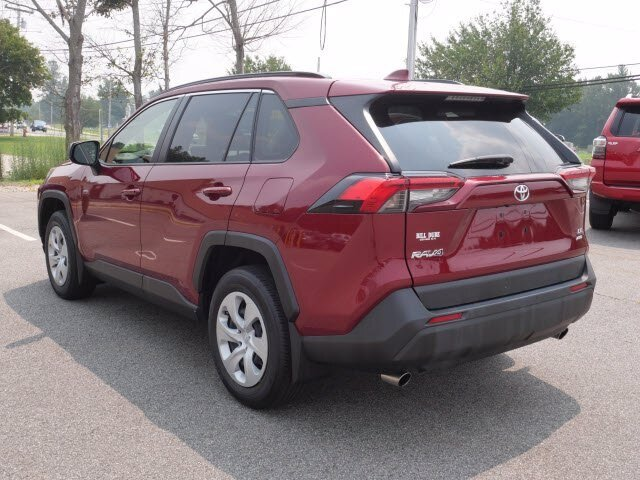 2019 Red Toyota RAV4 LE 2.5L 4 cyls Engine AWD 4 Door SUV Automatic
