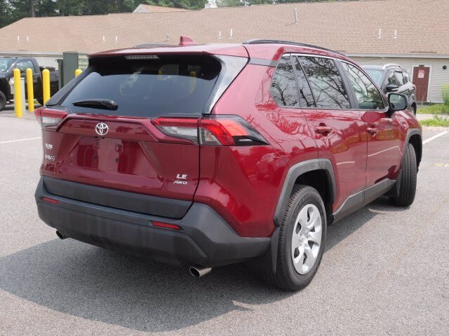 2019 Red Toyota RAV4 LE 4 Door 2.5L 4 cyls Engine Automatic AWD SUV